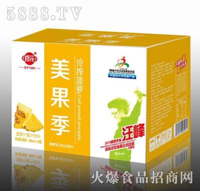 修花美果季冷榨菠萝果汁饮料500mlx15瓶