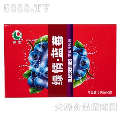 八星食品绿情蓝莓汁310mlx20罐