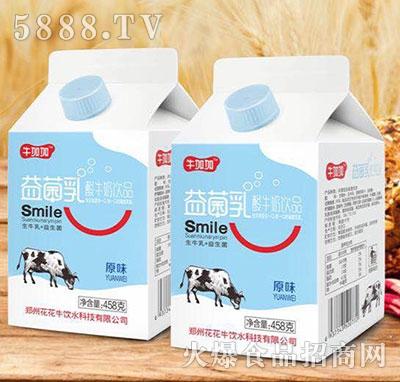 牛加加益菌乳酸牛奶原味458g(屋顶盒酸牛奶饮品)