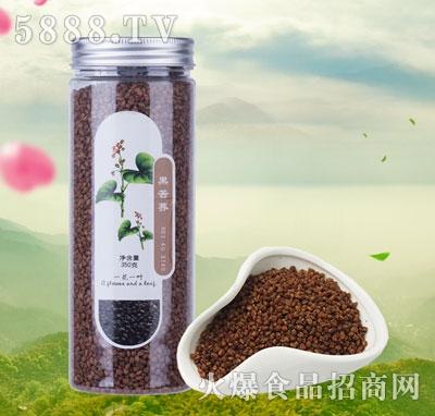 一花一叶黑苦荞花茶产品图