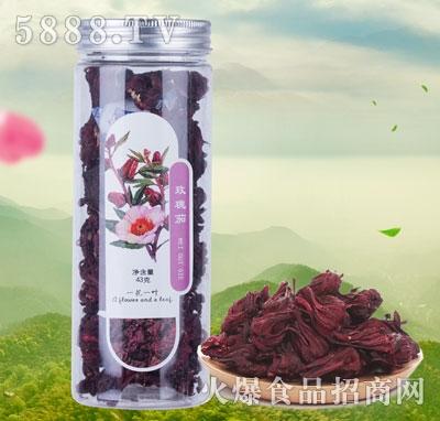 一花一叶玫瑰茄花茶产品图