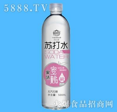 鹤园蜜桃果味苏打水