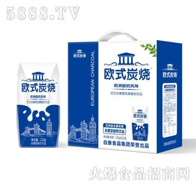 白象欧式炭烧酸奶210gX12盒