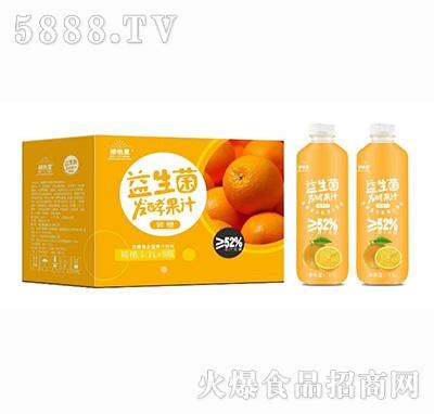 维他星益生菌鲜橙发酵果汁饮料1.1Lx8瓶+瓶子