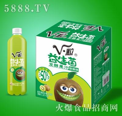 V・粒益生菌发酵猕猴桃果汁1.1LX6