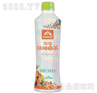 茶语山泉透明果茶水红柚白茶530ml产品图