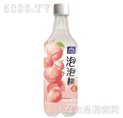 茶语山泉果茶苏打泡泡桃茶500ml产品图
