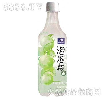 茶语山泉果茶苏打泡泡梅茶500ml产品图