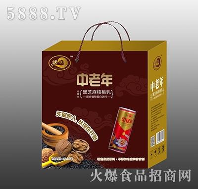 畅田中老年黑芝麻核桃乳礼盒产品图