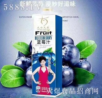 大白先森蓝莓汁1L