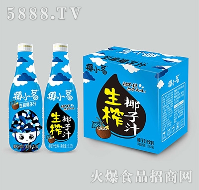 椰小茗生榨椰子汁饮料1.25Lx6瓶