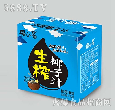 椰小茗生榨椰子汁饮料1.25Lx6
