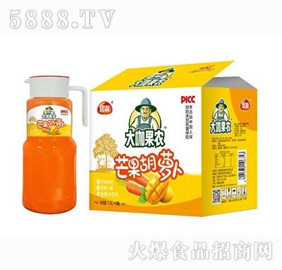 大咖果农芒果胡萝卜复合果汁饮料1.5Lx6瓶