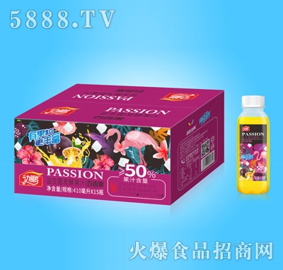 动鹏益生菌发酵百香果汁410mlX15