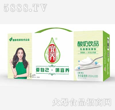 宜养酸奶饮品乳酸菌发酵型250ml×20