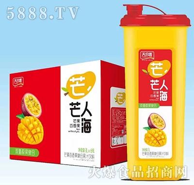 天合露芒芒人海芒果百香果复合果汁1Lx6