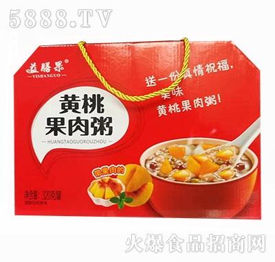 益膳果黄桃果肉粥320g产品图