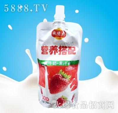 施佬大牛奶+果汁草莓味250ml(早餐奶)产品图