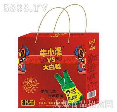 牛小溪vs大白梨饮料330mlx8瓶