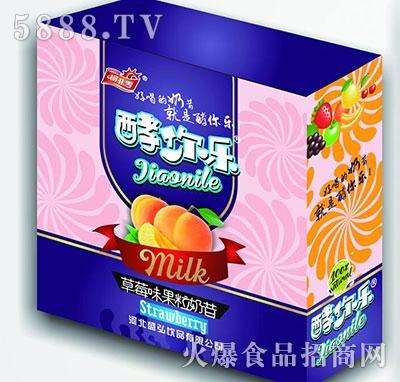 柯菲雪酵你乐草莓味果粒奶昔礼盒