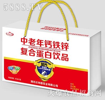 聪状元中老年钙铁锌蛋白饮料250mlx12盒
