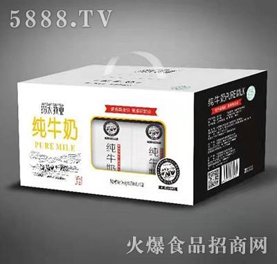汾太牧业纯牛奶250mlx12盒产品图