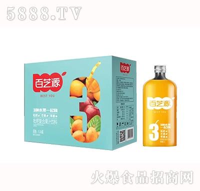 百芝源枇杷复合果汁饮料1Lx6瓶
