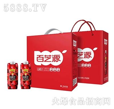 百芝源山楂汁山楂原浆饮料330mlx12盒