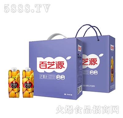 百芝源芒果汁芒果原浆饮料330mlx12盒