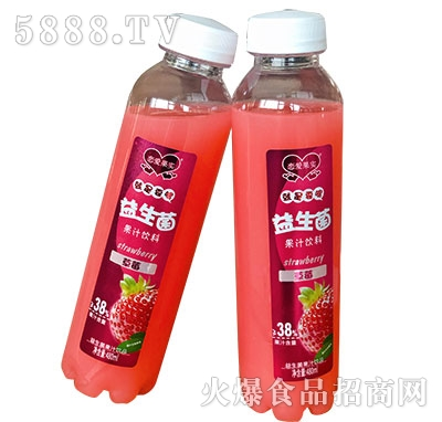 恋爱果实益生菌草莓汁饮料480ml