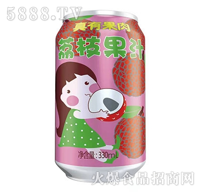 真有果肉荔枝果汁330ml