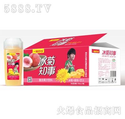 一品云台冰菊知事复合果汁饮料(冰菊+蜜桃+芝士)418mlX15瓶