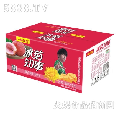 一品云台冰菊知事复合果汁饮料(冰菊+蜜桃+芝士)418mlX15