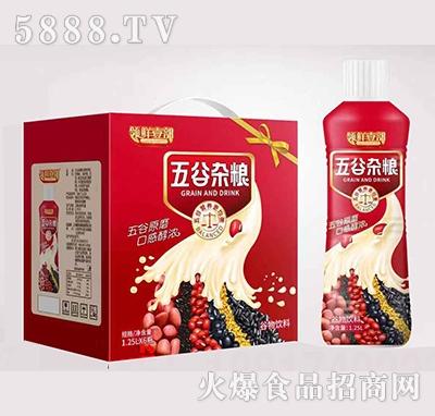 领鲜壹部五谷杂粮谷物饮料1.25L×6瓶产品图