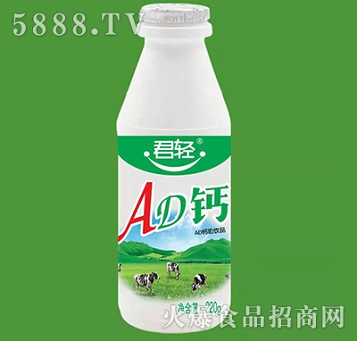 君轻AD钙奶饮品220g产品图