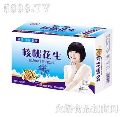 亲近福核桃花生复合植物蛋白饮品240ml罐