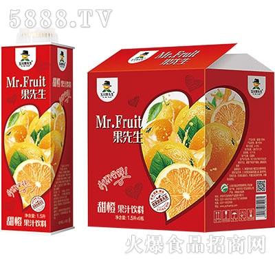 1.5Lx6玉川果先生保鲜屋甜橙汁饮料