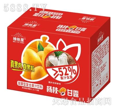维他星杨枝甘露发酵型复合果汁饮料1.1LX8