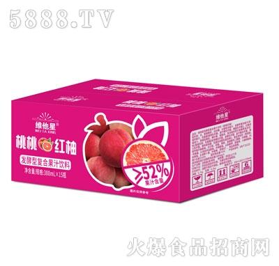 维他星桃桃红柚发酵型复合果汁饮料388mlX15
