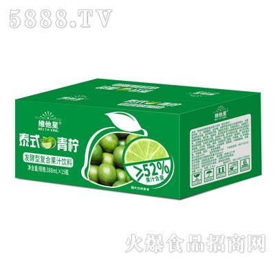 维他星泰式青柠发酵型复合果汁饮料388mlX15