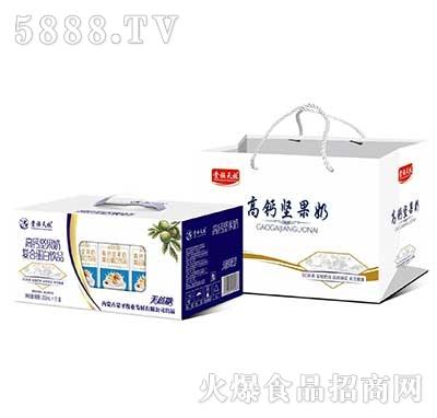 贵族天牧高钙坚果奶复合蛋白饮品250ml×12礼盒装