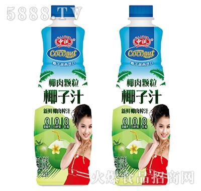 中沃椰肉果粒椰子汁植物蛋白饮料1.25L