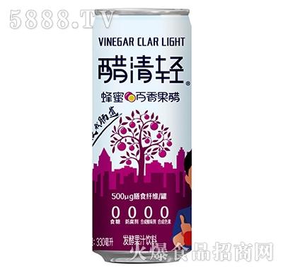 醋清轻蜂蜜百香果醋发酵果汁饮料330ml