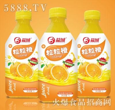 益城粒粒橙真果粒果汁风味饮料1L