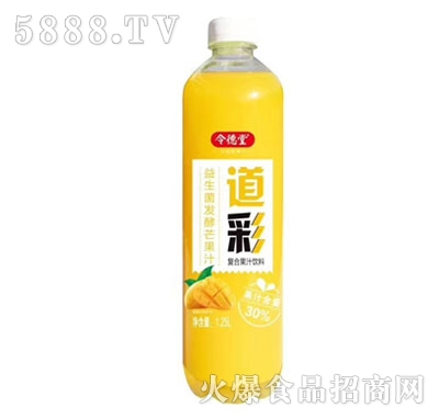 令德堂道彩益生菌发酵芒果汁1.25L