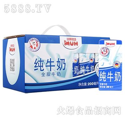 甘蒂牧场全脂牛奶礼盒200mlx10产品图