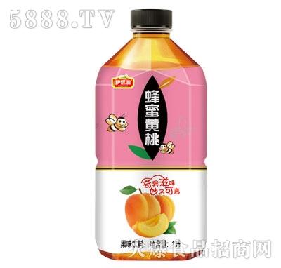 伊思源蜂蜜黄桃果味饮料1L