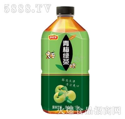 伊思源青梅绿茶果味饮料1L