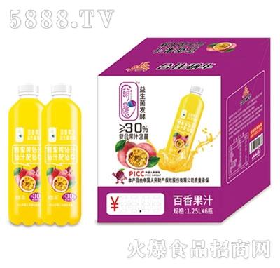 萌晨益生菌发酵百香果汁1.25Lx6