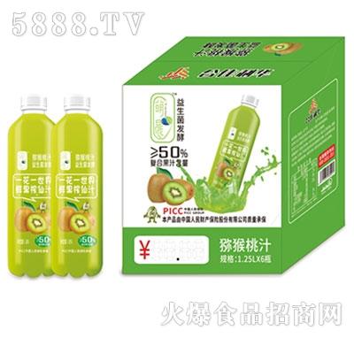萌晨益生菌发酵猕猴桃汁1.25Lx6